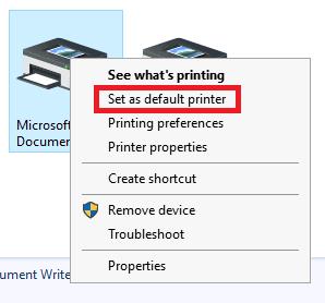 How do I change the Default Printer? – OneNet